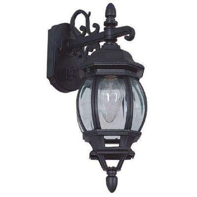 1-Light Black Outdoor Lantern