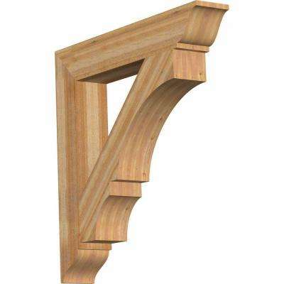 6 in. x 38 in. x 38 in. Western Red Cedar Balboa Traditional Rough Sawn Bracket