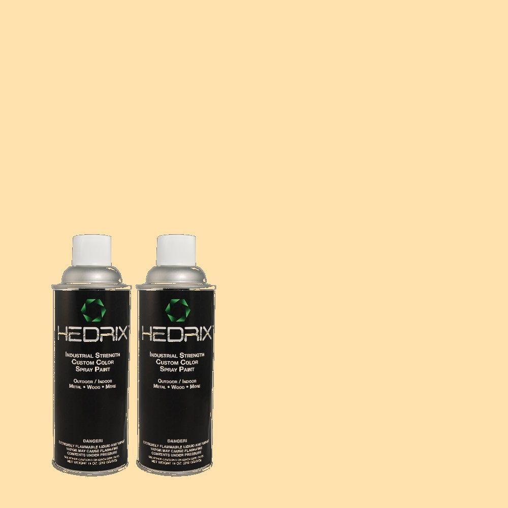 Hedrix 11 oz. Match of 1B15-2 Pale Cosmos Flat Custom Spray Paint (2-Pack)
