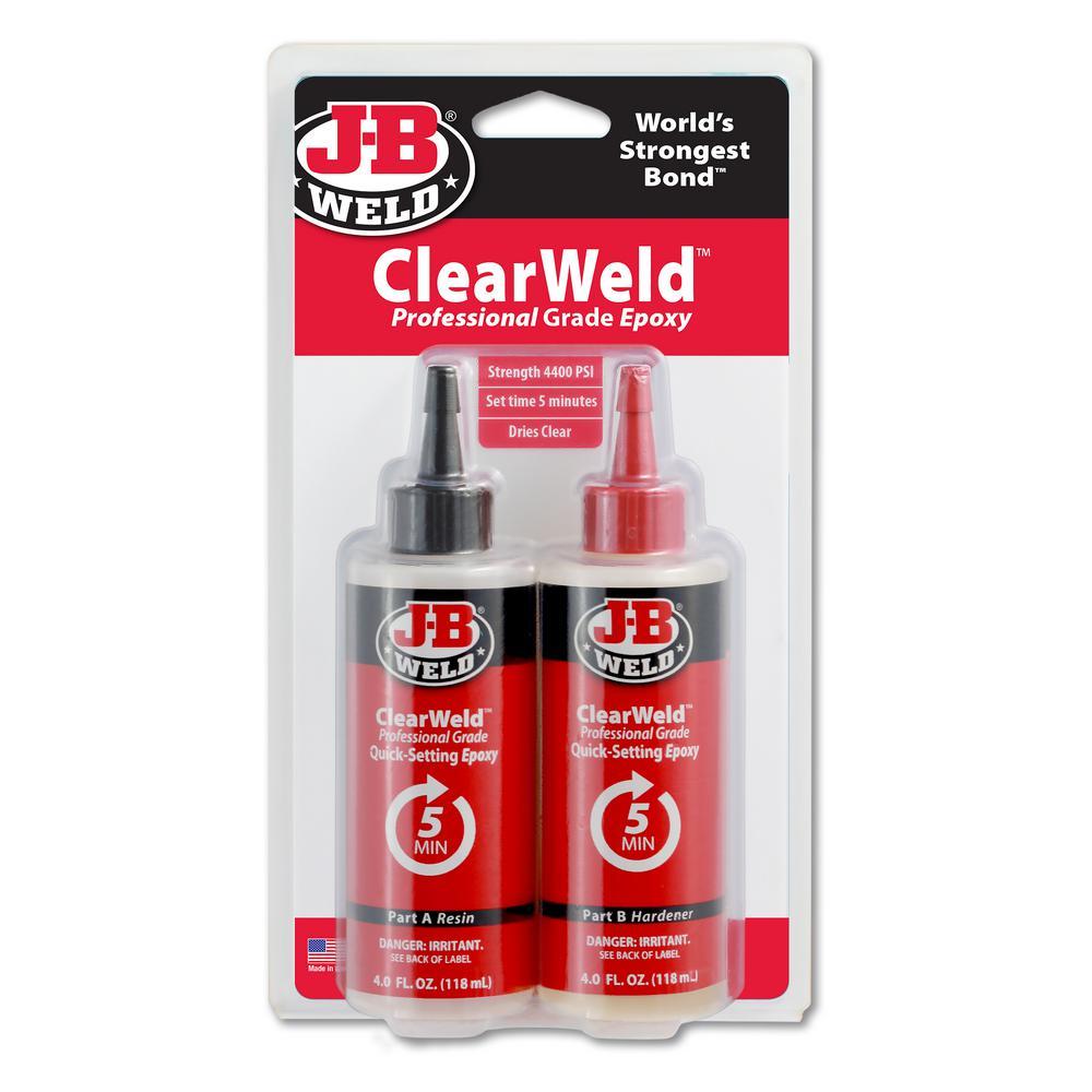 J B Weld 8 Oz Clearweld Pro 50240h