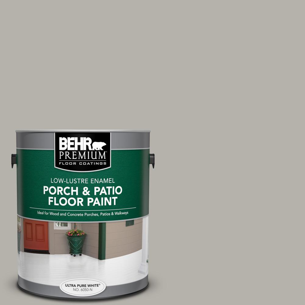 BEHR PREMIUM 1 gal. #PFC-67 Mossy Gray Low-Lustre Enamel Interior/Exterior Porch and Patio Floor Paint