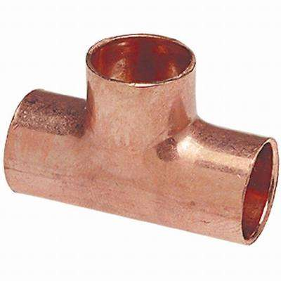 1/2 in. Wrot Copper Tee Fitting Cup x Cup x Cup (30/Jar)