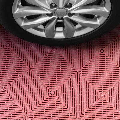 8.3 ft. x 17.5 ft. Silver with Black and Red Borders Ribtrax Smooth ECO Single Car Pad Kit