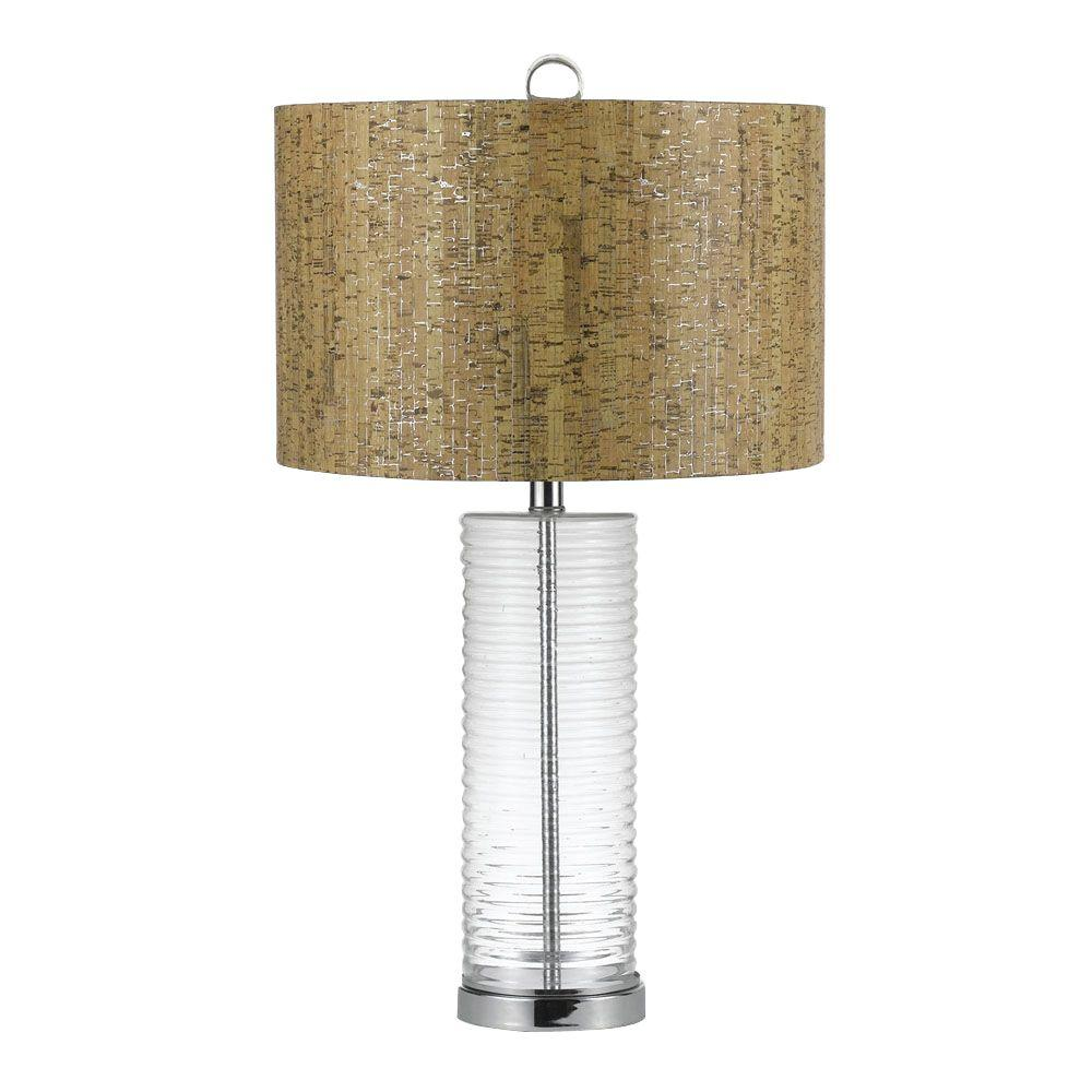 Safavieh evan 225 in clear fillable glass table lamp lit4066a chromeclear glass blown glass table lamp geotapseo Choice Image