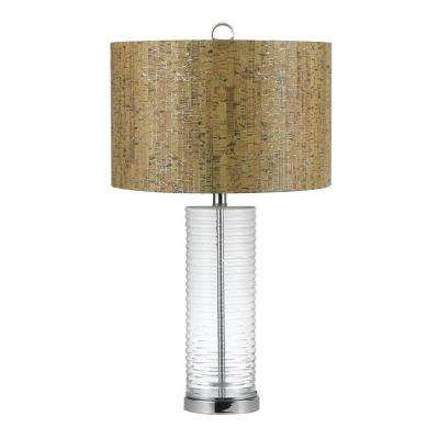 Venus 27.5 in. Chrome Table Lamp
