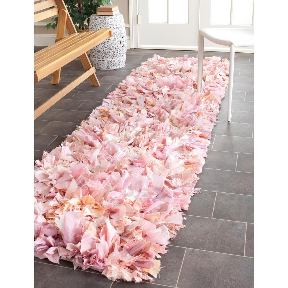 Safavieh Rio Shag Ivory/Pink 2 Ft. 6 In. X 4 Ft. Area Rug