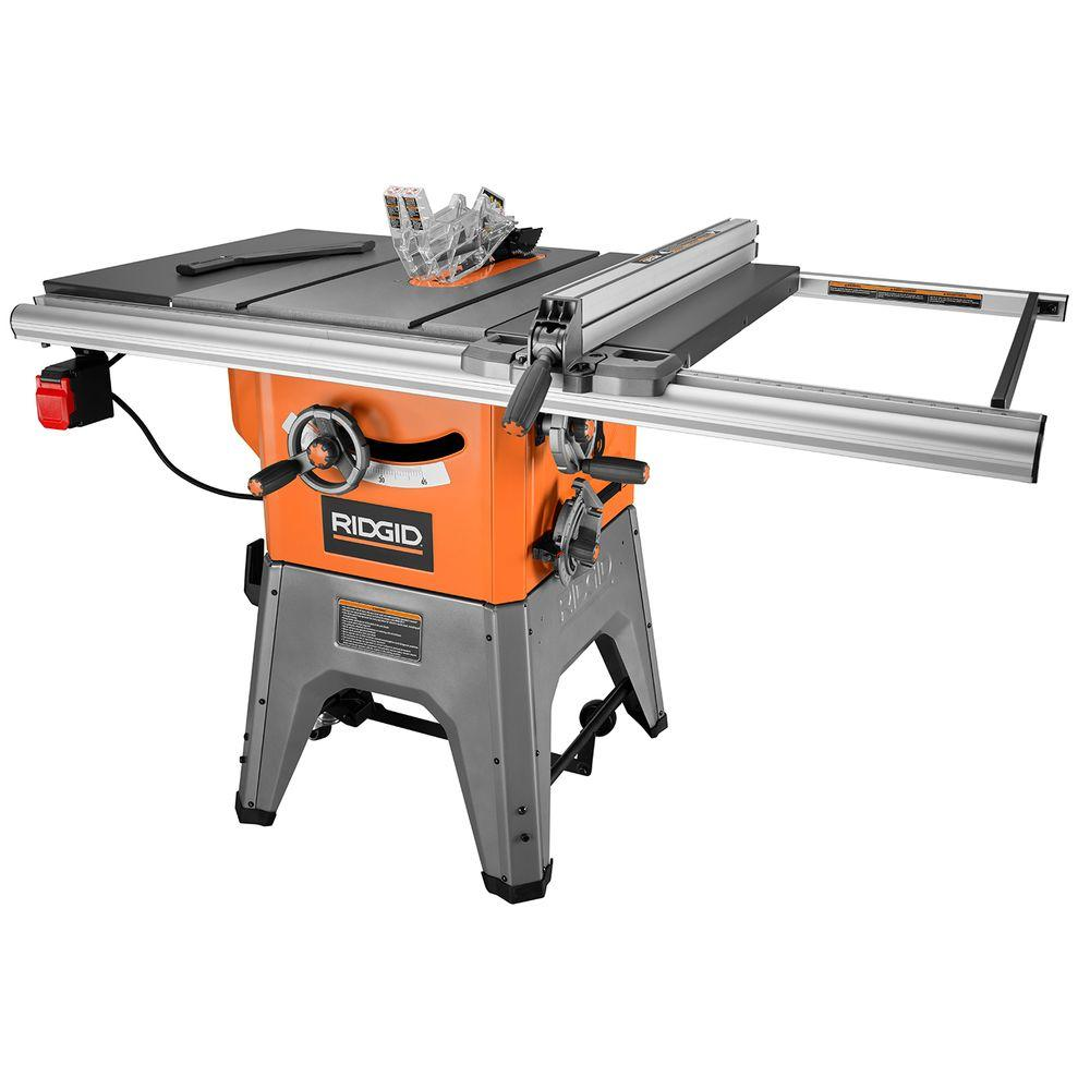Ridgid 13 Amp 10 In Professional Cast Iron Table Saw R4512 The Home Depot