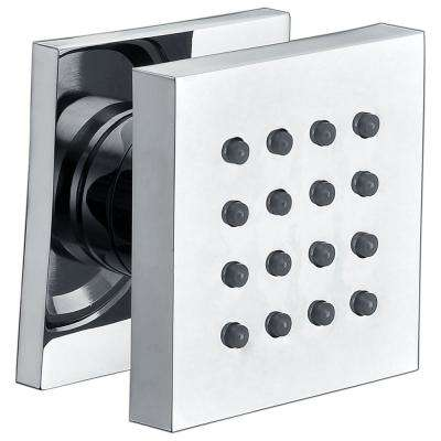 2.38 in. Fixed Shower Head with Adjustable Spray in Polished Chrome