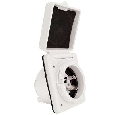 30 Amp Power Inlet in White