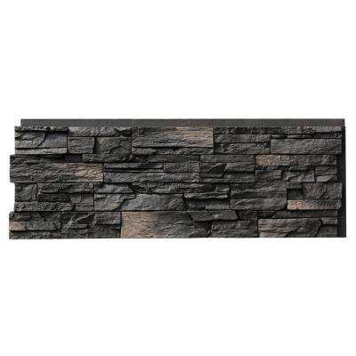 Country Ledgestone 15.5 in. x 43.5 in. Andean Onyx Faux Stone Siding Panel (4-Pack)