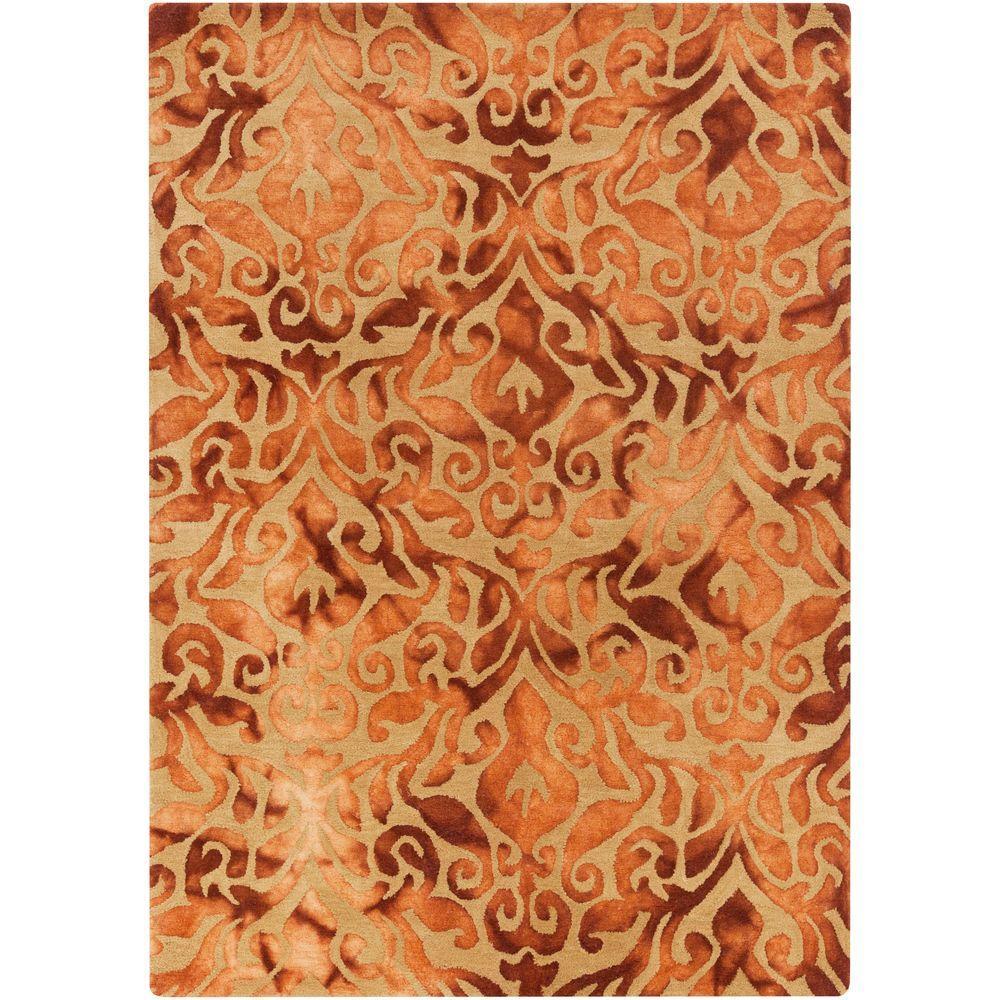 Artistic Weavers Calgary Burnt Orange 8 Ft X 10 Indoor Area Rug