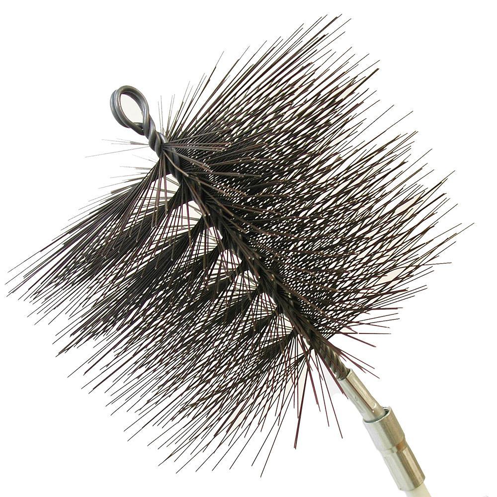 7 in. Round Wire Chimney Brush, 1/4 in. NPT
