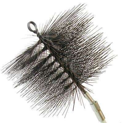 9 in. Round Wire Chimney Brush, 1/4 in. NPT