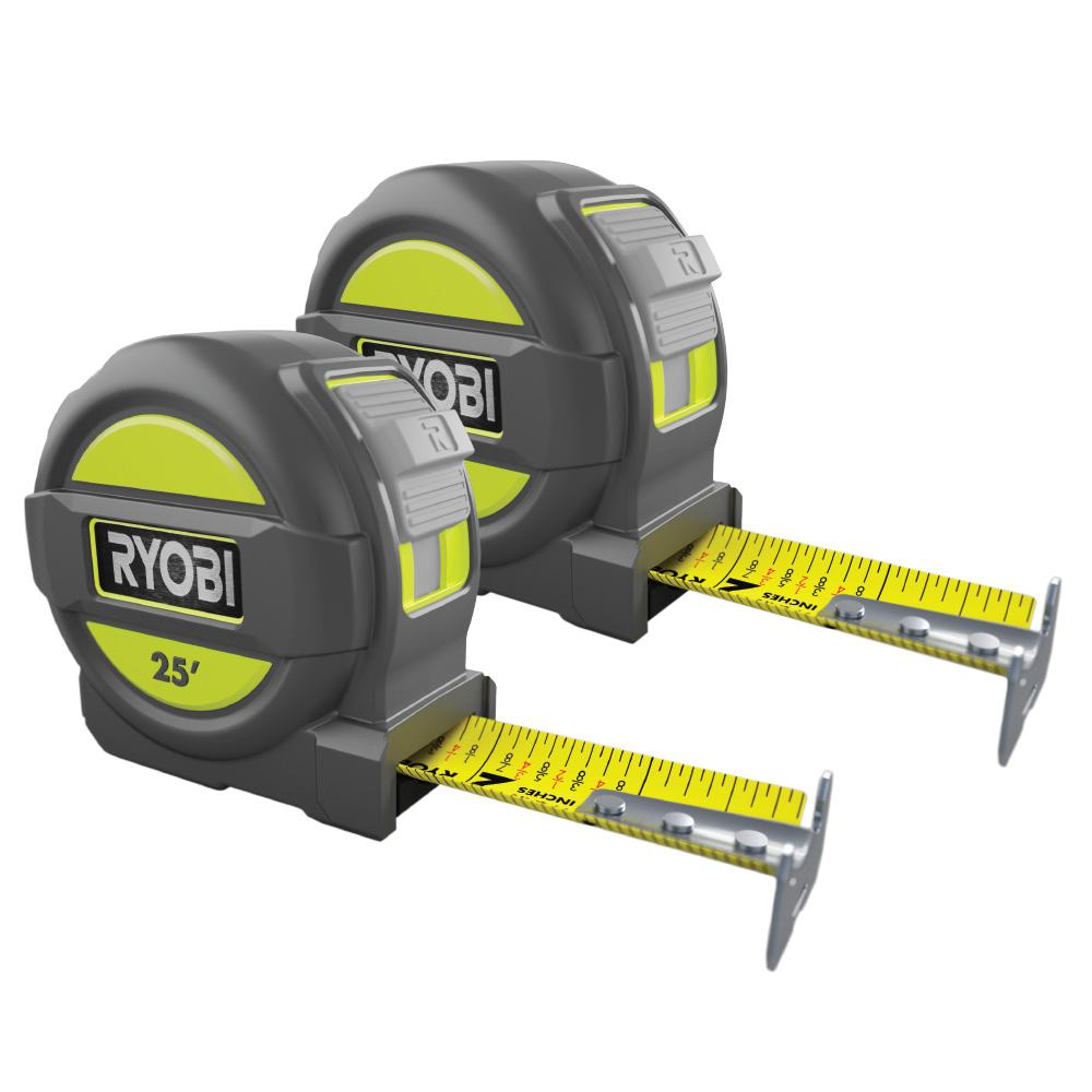 Ryobi 25 ft. Tape Measure Combo Set
