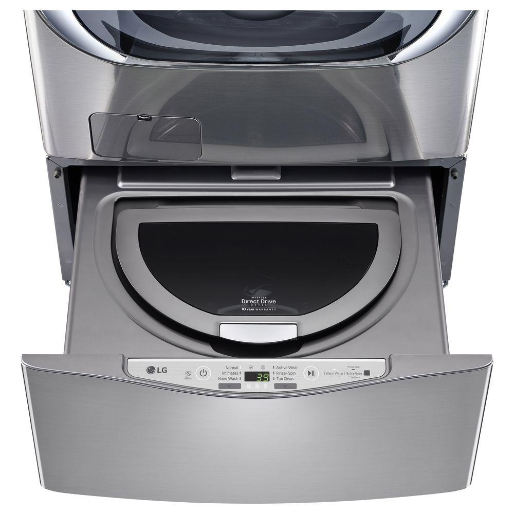 LG 27 in. 1.0 cu. ft. SideKick Pedestal Washer in Graphit...