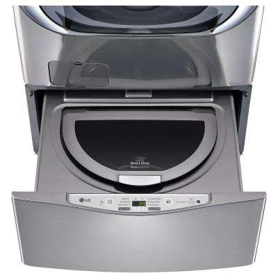 27 in. 1.0 cu. ft. SideKick Pedestal Washer in Graphite Steel