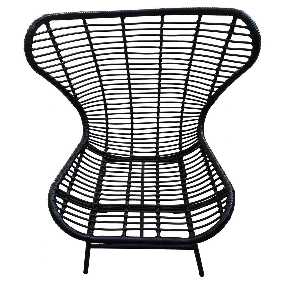 42 in. Black Metal Chair