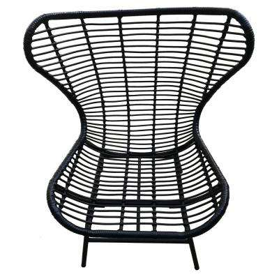 42 in. Black Metal Chair