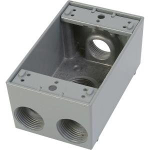 Greenfield 1 Gang Weatherproof Electrical Outlet Box With