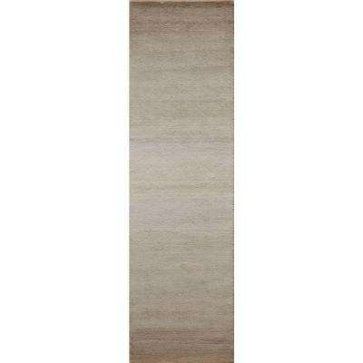 City Life Collection Taupe 2 ft. x 8 ft. Indoor Runner Rug
