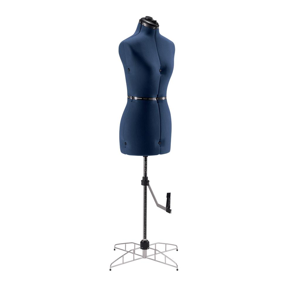 SINGER SEWING CO. Adjustable Small / Medium Dress Form Blue