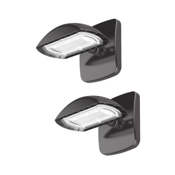 High-Output 200-Watt Equivalent Integrated Outdoor LED Flood Light with Wall Pack Mount, 3000 Lumens (2-Pack)