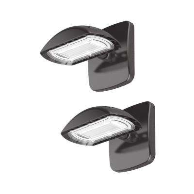 Bright 28-Watt Integrated LED Wall Pack, 3000 Lumens, Outdoor Security Lighting (2-Pack)