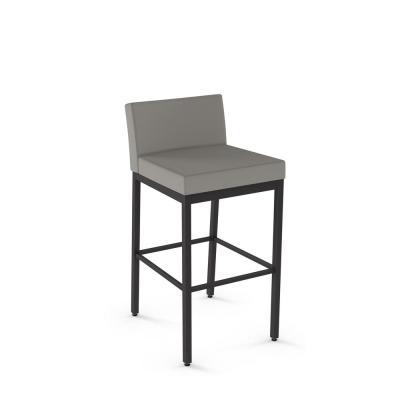 Fairfield 26 in. Textured Dark Brown Metal Warm Grey Polyurethane Counter Stool