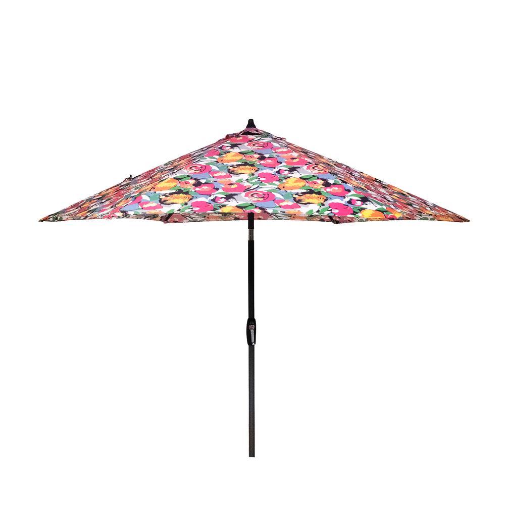 9 ft. Aluminum Market Patio Umbrella in Vistamesa Black