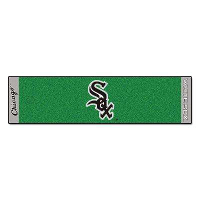 MLB Chicago White Sox 1 ft. 6 in. x 6 ft. Indoor 1-Hole Golf Practice Putting Green