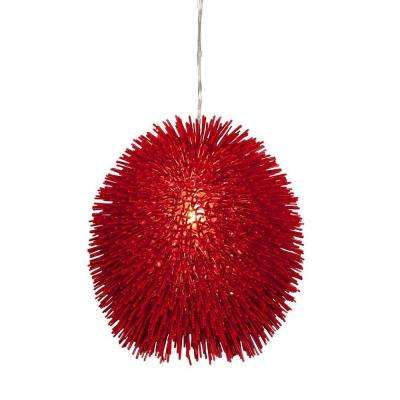 Urchin 1-Light Super Red Pendant