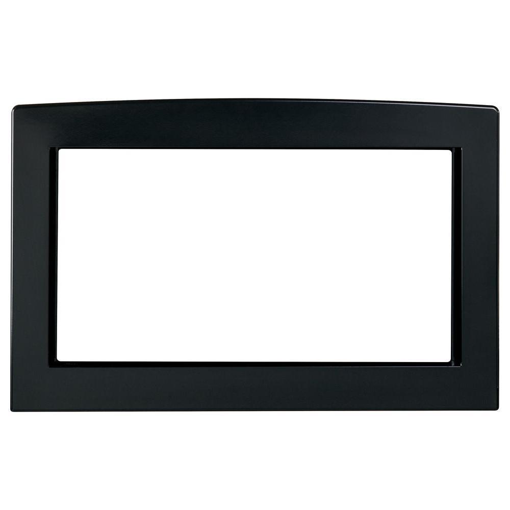null Deluxe 30 in. Built-In Microwave Trim Kit in Black