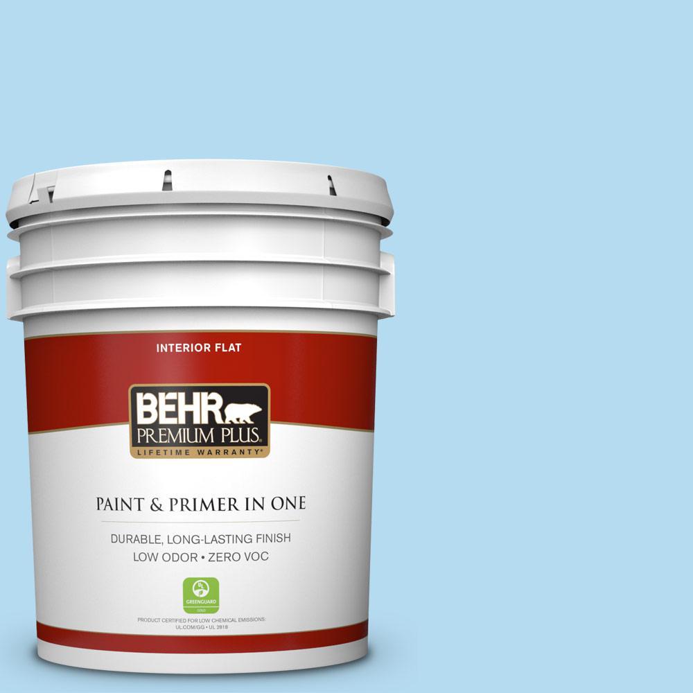 BEHR Premium Plus 5-gal. #P500-2 Seashore Dreams Flat Interior Paint, Blues