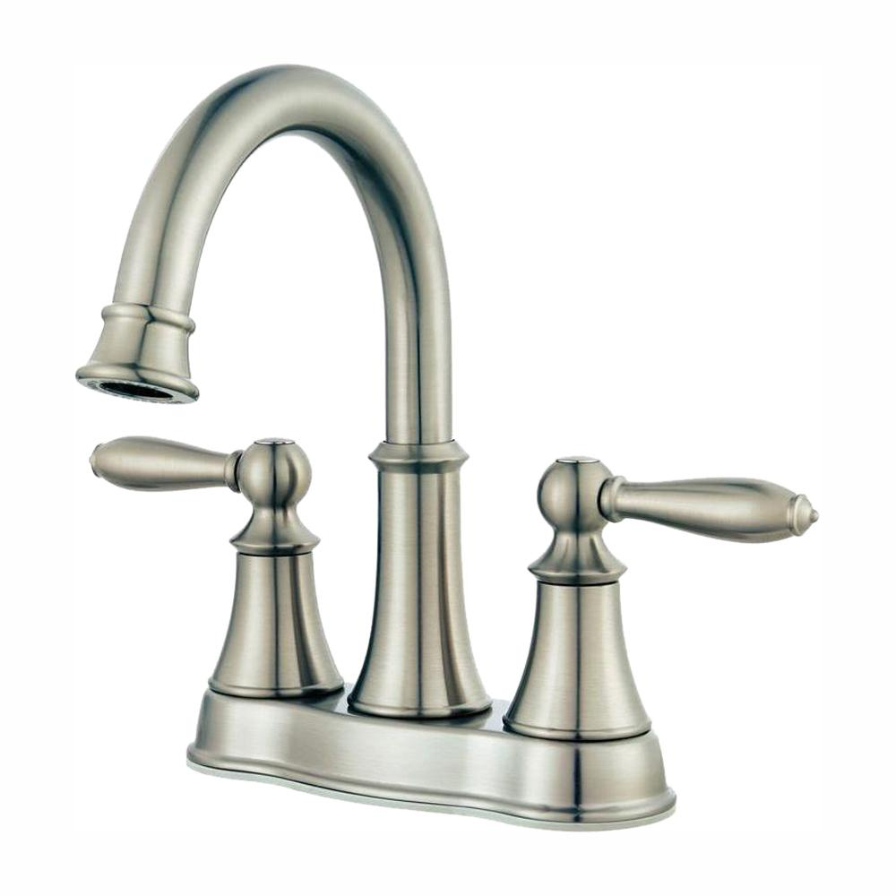 Pfister Courant 4 in. Centerset 2-Handle Bathroom Faucet in Brushed Nickel