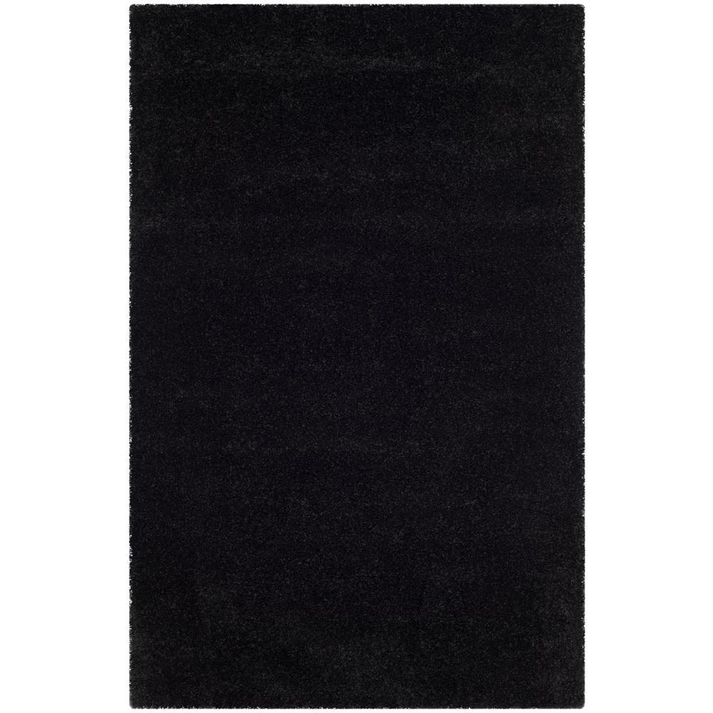 Safavieh Milan Shag Black 3 Ft X 5 Ft Area Rug Sg180
