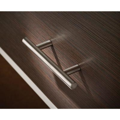 2-1/2 in. (64mm) Center-to-Center Brushed Steel Bar Drawer Pull (12-Pack)