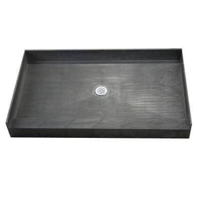 37 in. x 60 in. Single Threshold Shower Base with Center Drain