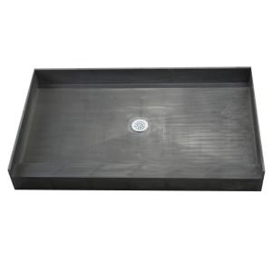 Single Threshold Shower Base With Center Drain 4260C PVC   The Home Depot