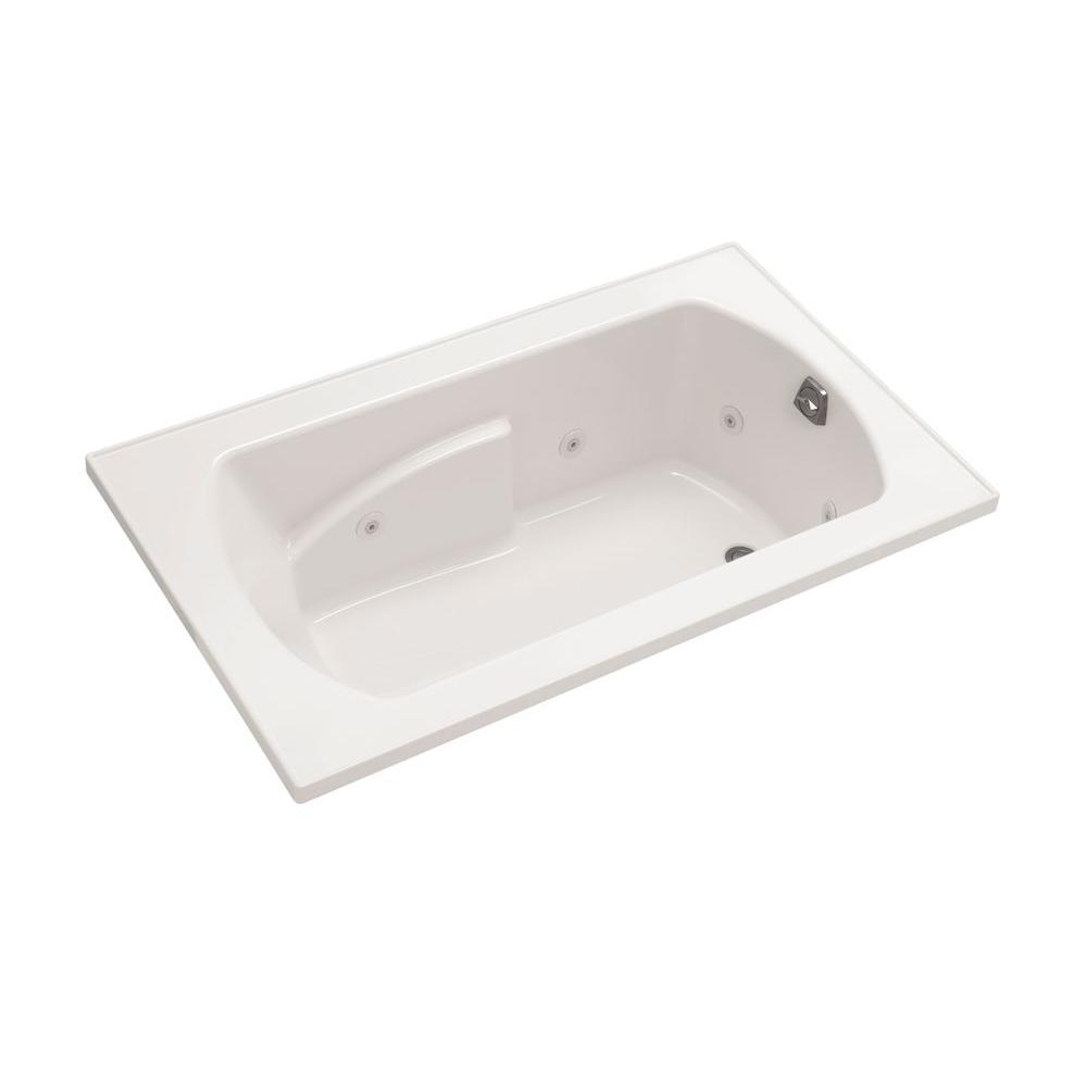 STERLING Lawson 36 in. Whirlpool Tub with Heater and Right-Hand Drain in Biscuit-DISCONTINUED