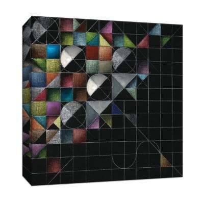 15 in. x 15 in. ''Rainbow Geo I'' By PTM Images Canvas Wall Art