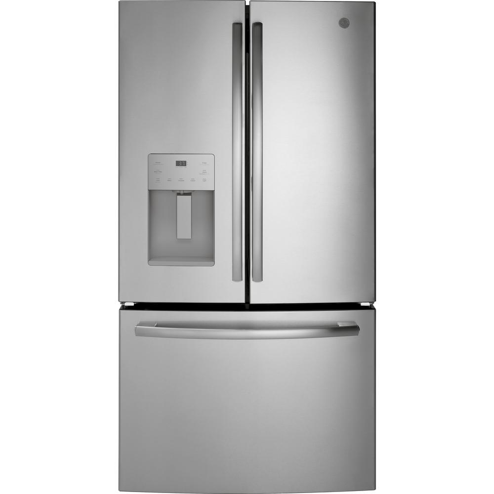 GE 25.6 cu. ft. French-Door Refrigerator in Stainless Steel, ENERGY STAR