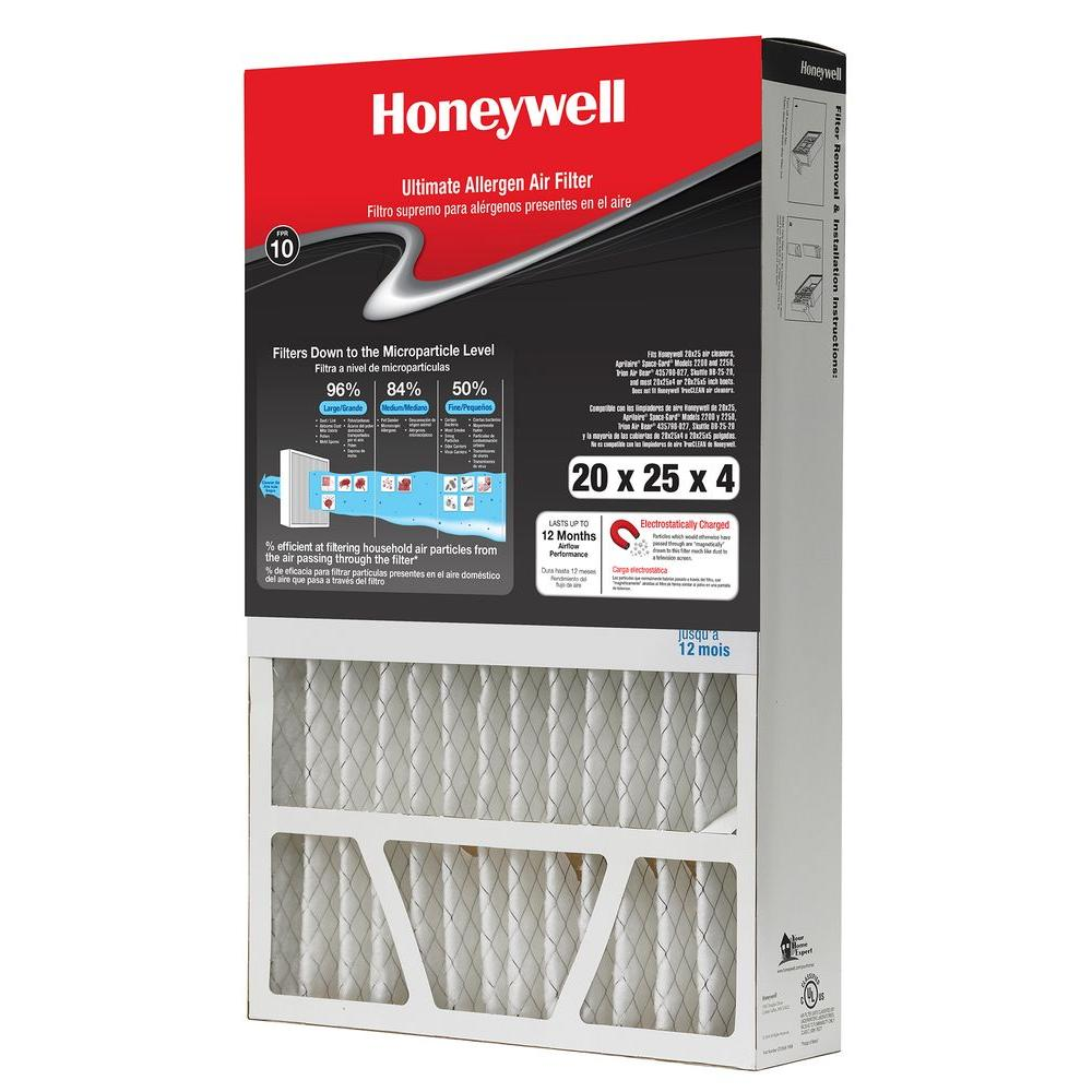 Honeywell 20 in. x 25 in. x 4 in. FPR 10 Air Cleaner Filter ...