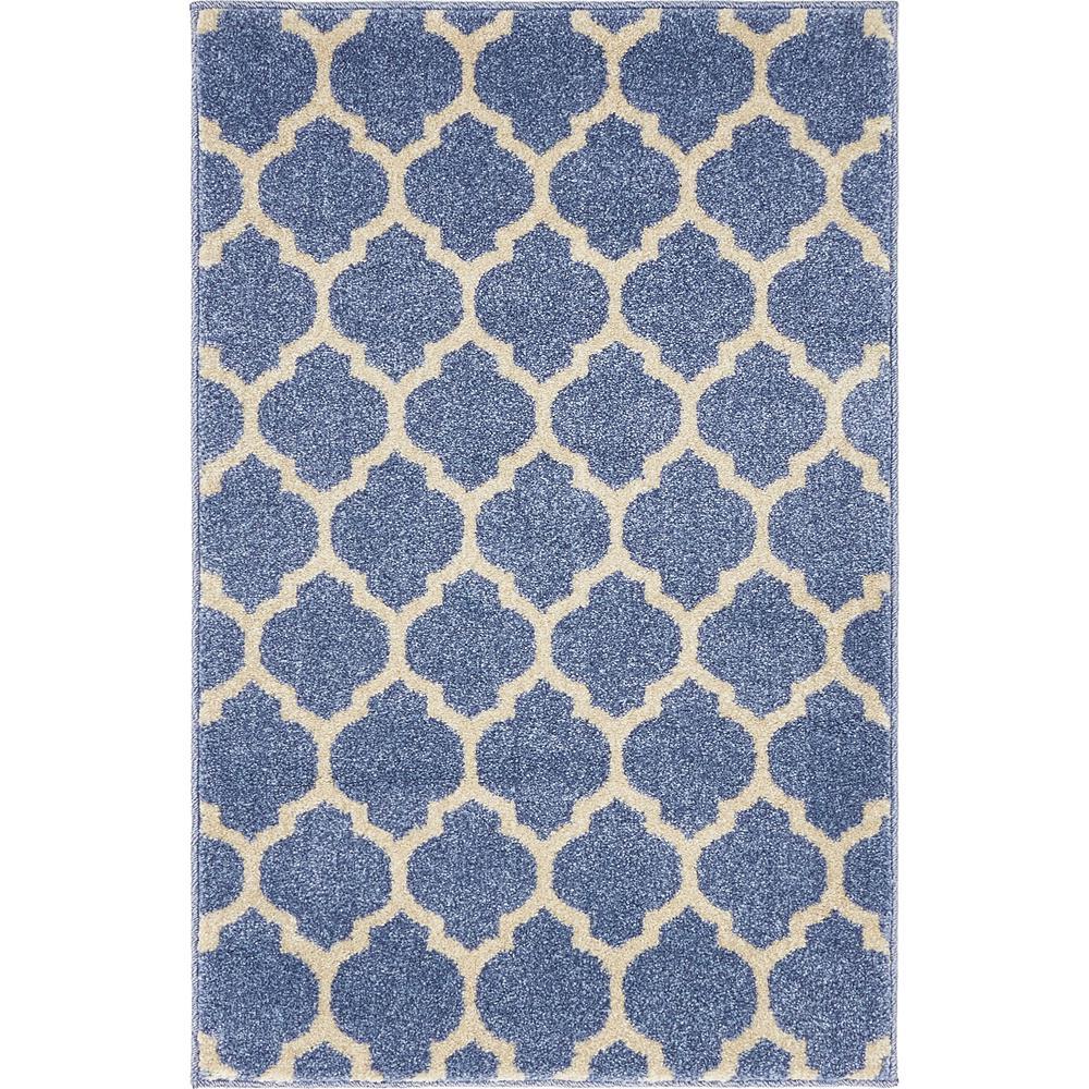 Trellis Philadelphia Light Blue/Beige 2' 2 x 3' 0 Area Rug