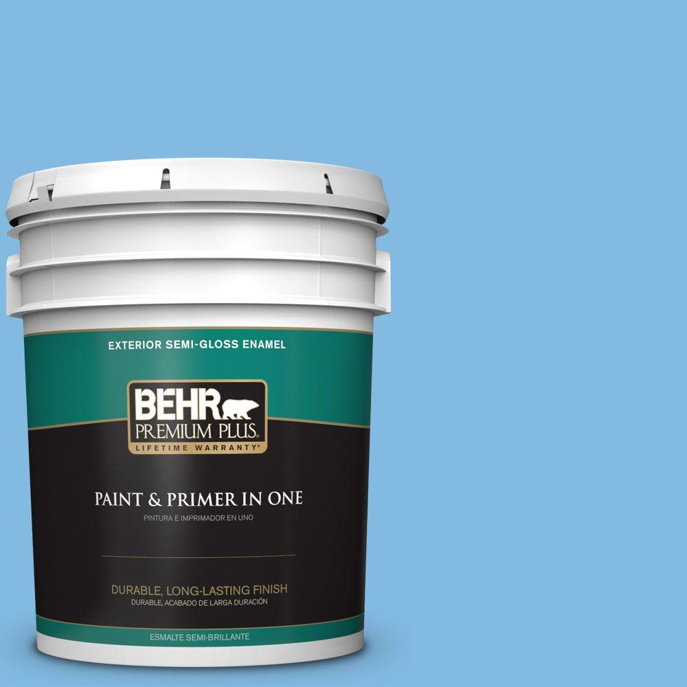 BEHR Premium Plus 5-gal. #560B-4 Enchanting Semi-Gloss Enamel Exterior Paint