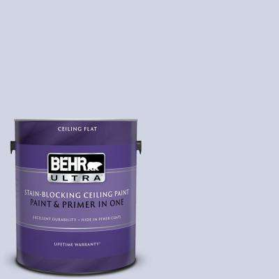 1 gal. #PPU16-08 Hint Of Violet Ceiling Flat Interior Paint and Primer in One