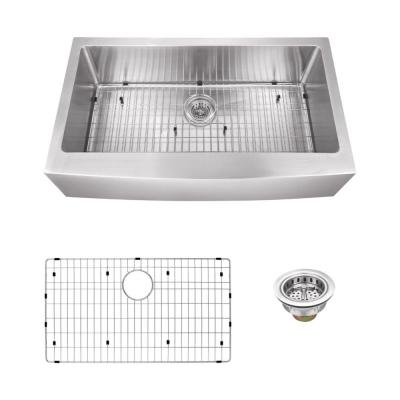 Farmhouse Apron Front 33 in. 16-Gauge Stainless Steel Single Bowl Kitchen Sink in Brushed Stainless