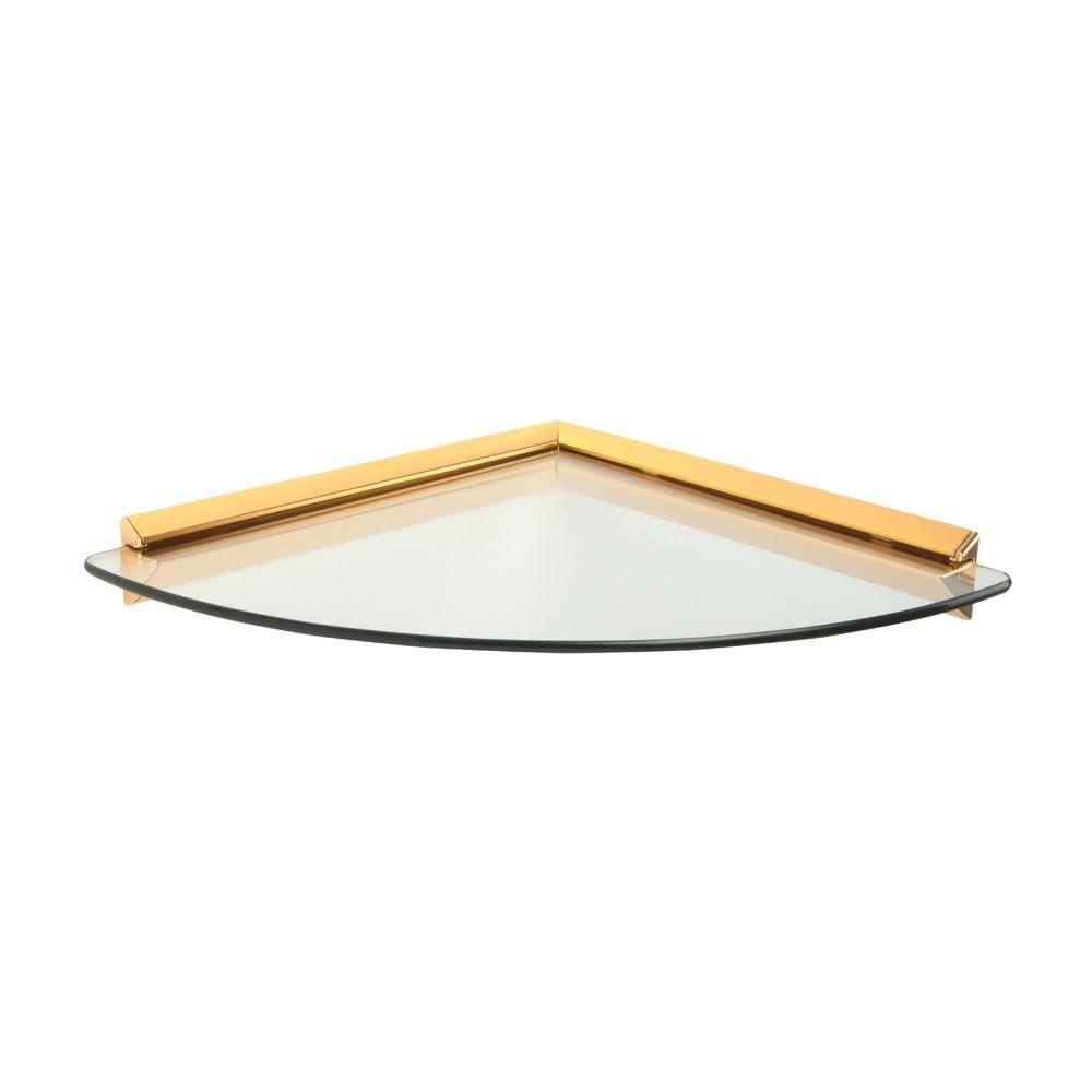 knape vogt 12 in x 12 in brass glass corner decorative. Black Bedroom Furniture Sets. Home Design Ideas