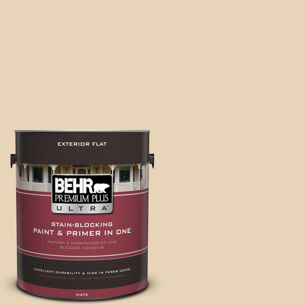 1-Gal. #PPU7-18 Sand Pearl Flat Exterior Paint