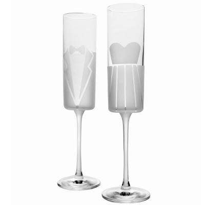 Wedding Cheers Formal (Dress/Tux) 5.75 oz. Flute (Set of 2)