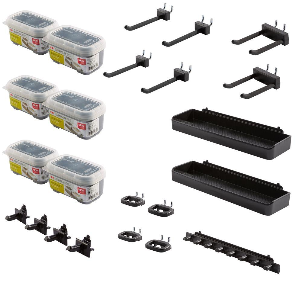 Rubbermaid FastTrack Garage Wall Panel Accessory Kit (13-Piece)